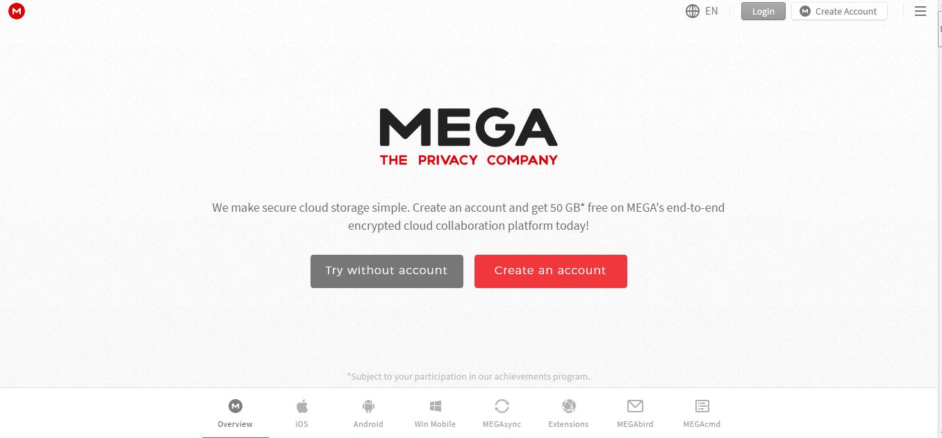 free mega account